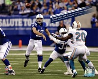 Andrew Luck breaks the NFL Rookie single game passing record, Lucas Oil Stadium- Indianapolis, IN November 4, 2012 Fine-Art Print