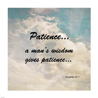 Patience Proverbs 19:11 Against the Sky Fine-Art Print