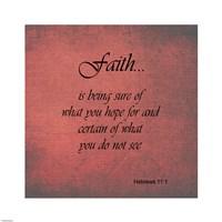 Faith Hebrews 11:1 Fine-Art Print