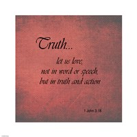 Truth 1 John 3:18 Fine-Art Print