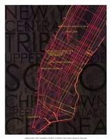 Neon Map II Fine-Art Print