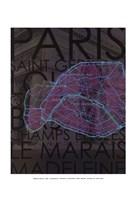 Neon Map III Fine-Art Print