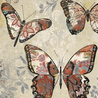 Patterned Butterflies I Fine-Art Print