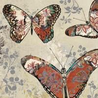 Patterned Butterflies II Fine-Art Print