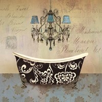 French Vintage Bath II - Mini Fine-Art Print