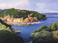 Vista dal monte di Portofino Fine-Art Print