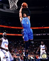 Russell Westbrook 2012-13 Action in basketball Fine-Art Print