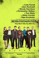 Seven Psychopaths B Wall Poster