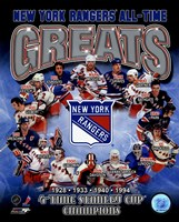 New York Rangers All-Time Greats Composite Fine-Art Print