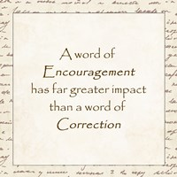 A word of Encouragement - square Fine-Art Print
