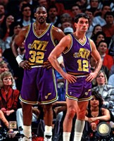 Karl Malone & John Stockton 1994 Action Fine-Art Print