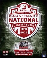 University of Alabama Crimson Tide 2013 BCS Back-To-Back National Champions Team Logo Fine-Art Print