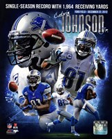 Calvin Johnson Single-Season Receiving Yards Record Portrait Plus Fine-Art Print