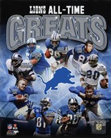 Detroit Lions All Time Greats Composite Fine-Art Print