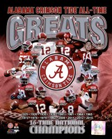 University of Alabama Crimson Tide All Time Greats Composite Fine-Art Print