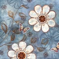 Blue Posies I Fine-Art Print