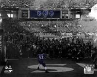 Ray Lewis pre-game introduction final game in Baltimore 2012 Playoff Spotlight Fine-Art Print
