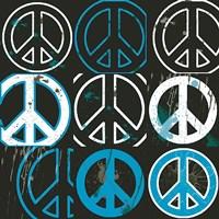 Peace Mantra (blue) Fine-Art Print