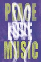 Peace Love Music Fine-Art Print