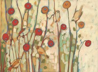 Five Little Birds Playing Amongst the Poppies Fine-Art Print