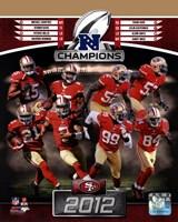 San Francisco 49ers 2012 NFC Champions Composite Fine-Art Print