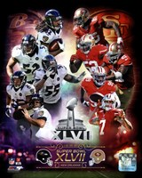 Super Bowl XLVII  Match Up Composite Fine-Art Print