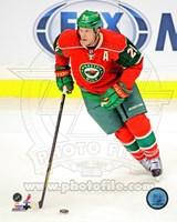 Ryan Suter Passing The Hockey Puck Fine-Art Print