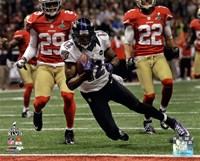 Jacoby Jones running in Super Bowl XLVII Fine-Art Print