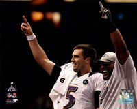 Joe Flacco & Ray Lewis Super Bowl XLVII Celebration Fine-Art Print