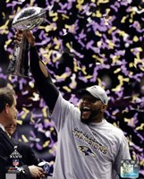Ray Lewis with the Vince Lombardi Trophy after winning Super Bowl XLVII Fine-Art Print