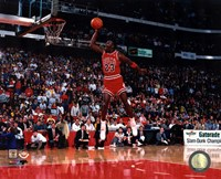 Michael Jordan 1988 NBA Slam Dunk Contest Action Fine-Art Print