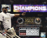 Ray Lewis Super Bowl XLVII Champion Overlay Fine-Art Print