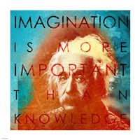 Einstein - Imagination Quote Fine-Art Print