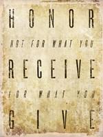 Honor Quote Fine-Art Print