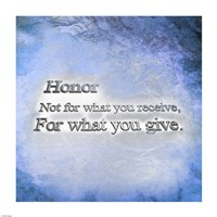 Honor Quote II Fine-Art Print