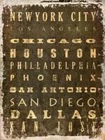 US Cities Fine-Art Print
