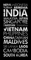 Asia Countries II Fine-Art Print
