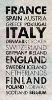 European Countries I Fine-Art Print