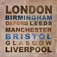 United Kingdom Cities I Fine-Art Print