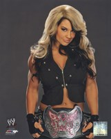 Kaitlyn with the Divas Championship Belt 2013 Posed Fine-Art Print