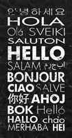 Hello in Different Languages Fine-Art Print