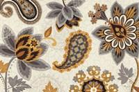 Decorative Nature I Yellow Gray Cream Fine-Art Print