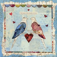 Love Birds Square Fine-Art Print