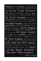 Mother Teresa Quote Black Fine-Art Print