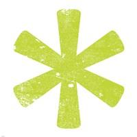 Lime Asterisk Fine-Art Print