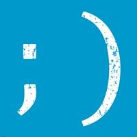 Blue Wink Smile Fine-Art Print