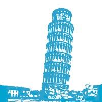 Pisa in Blue Fine-Art Print