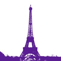 Purple Eiffel Tower Fine-Art Print