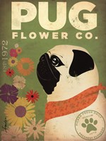 Pug Flower Co. Fine-Art Print