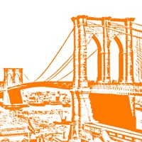 Orange Brooklyn Bridge Fine-Art Print
